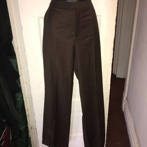 Ellen Tracy brown slacks 8